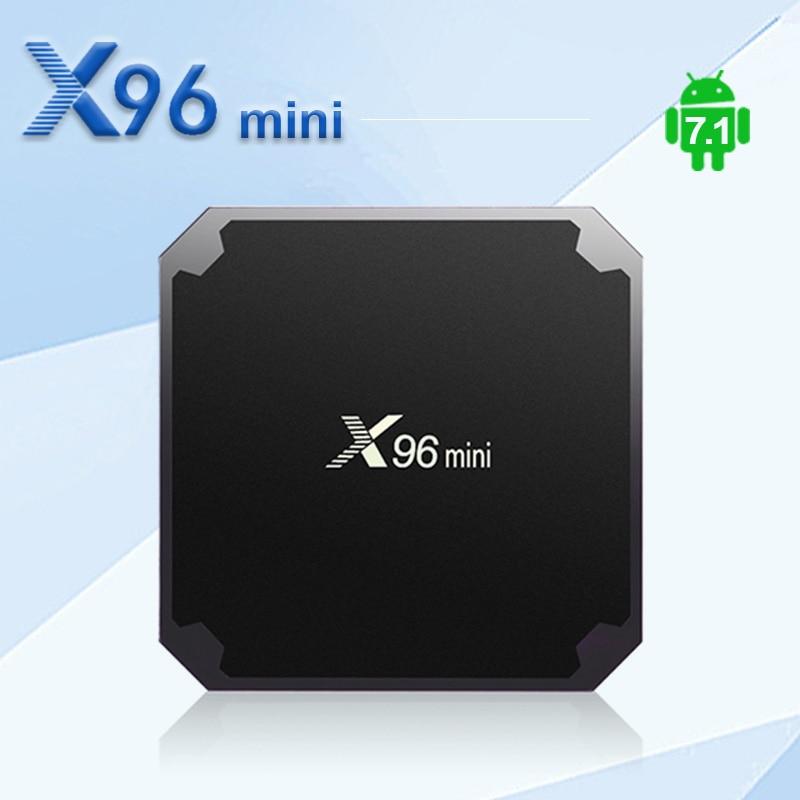 X96 mini Android 7.1 Smart TV BOX 2 gb 16 gb TV BOX Amlogic S905W Quad Core unterstützung 4 karat 30tps 2,4 ghz WiFi X96mini IPTV Set top box