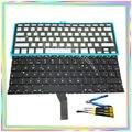 """Nuevo SP Teclado Español con Luz de Fondo y tornillos y destornillador herramientas de teclado para Macbook Air 13.3 """"A1369 A1466 2011-15Year"""