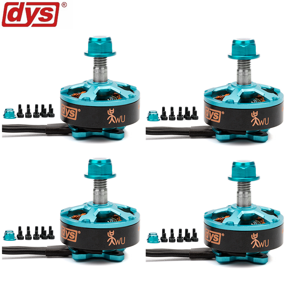 4 unids/lote DYS samguk serie Wu 2206 2400kv 2700kv 3-4 s sin escobillas Motores CW para modelos RC multicopter marcos Hélices