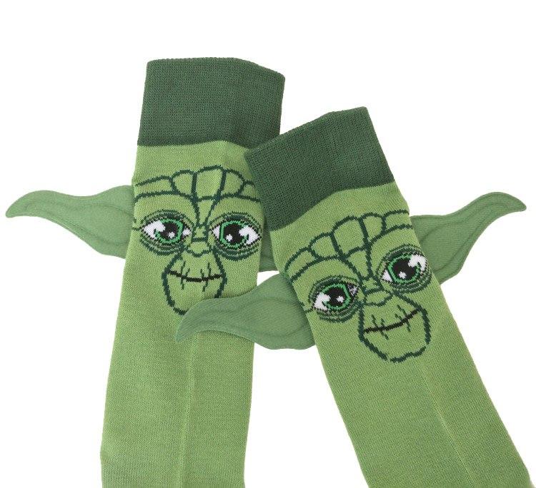 Action Toy Figures Star Wars Last Jedi Master Yoda Socks Street Cosplay Plush Comics Women Men The Force Awakens Socks