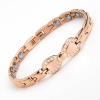 New Fashion Magnet Women S Men S Stainless Steel Paw Bracelets Bio Nagetive Ion Power Magnetic