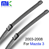 Combo Rubber Front And Rear Wiper Blades For Mazda 3 2003 2008 Windscreen Wipers Car Accessories
