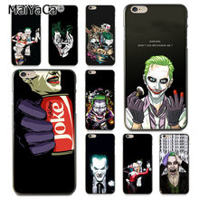 Maiyaca Suicide Squad Joker Harley Quinn Margot Robbie Ponsel Case untuk Apple iPhone 8 7 6 6S Plus X 5 5S SE X XR X Max Cover(China)
