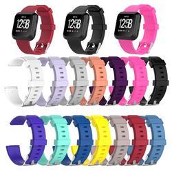 Силиконовые запястье застежка Замена ремешка для Fitbit Versa Смарт часы браслет