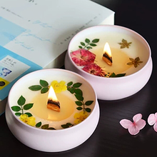 Gift Soy Scented Candles Dried Flower Candle Wax Smokeless Candlelight Smoke Free Wedding Decoration Sparklers for Weddings LZ37