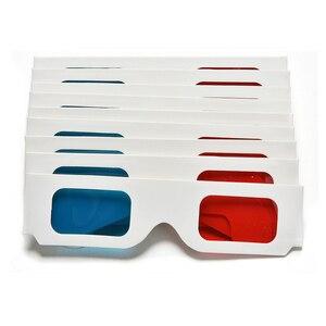 Image 5 - HFES חמה 100 זוגות אוניברסלי נייר Anaglyph 3D משקפיים נייר 3D תצוגת משקפיים Anaglyph אדום ציאן אדום/כחול 3D זכוכית עבור סרט EF