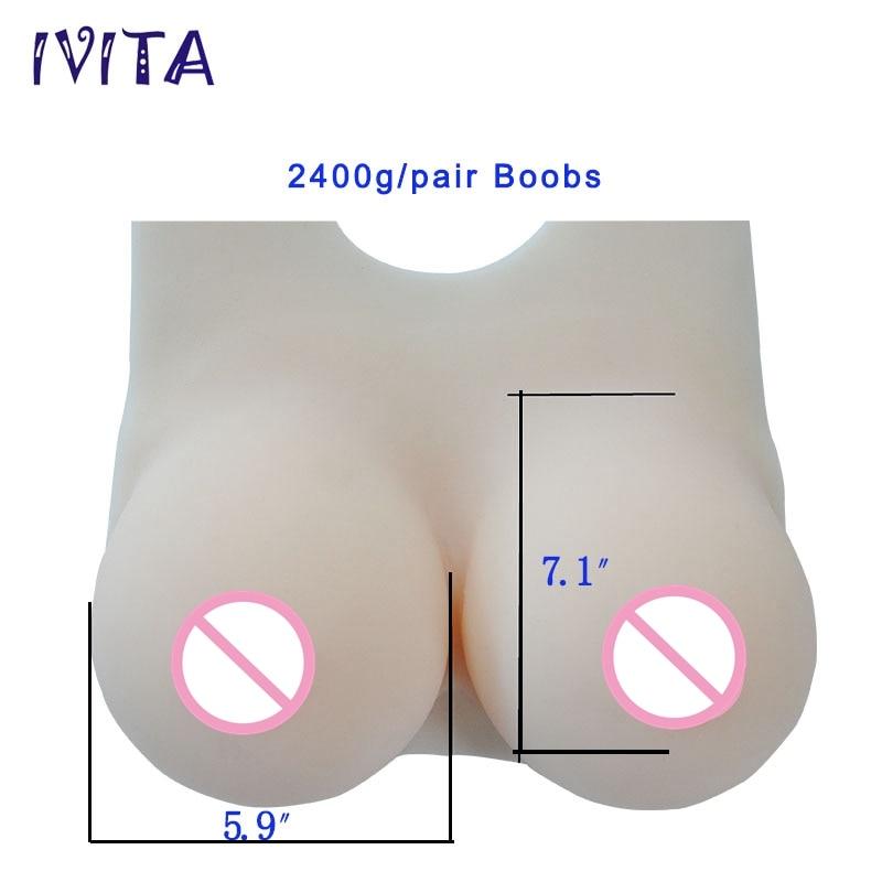 IVITA 2400g Formas de mama artificiales de silicona enormes Pechos - Cuidado de la salud