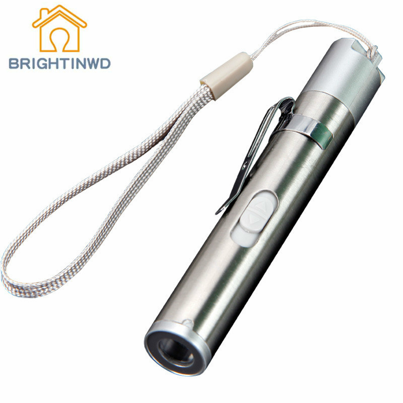BRIGHTINWD Led Flashlight Portable Ultra Bright Handheld USB Mini Charge Strong Light Small Electroprobe Lithium Battery Medical