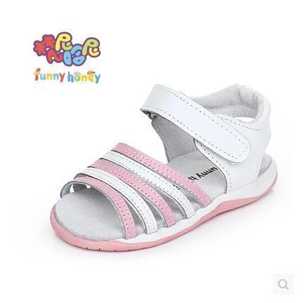 Bom quanlity couro crianças meninas sandálias menina sandálias princesa sapatos feitos à mão da criança sapatos cor branca