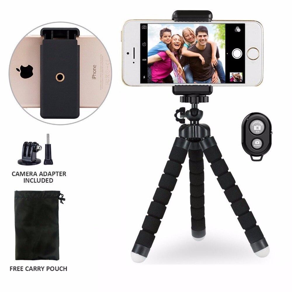 Duszake Flexible Poulpe Gorillapod pour Téléphone Mini Trépied pour iPhone Xiaomi Huawei Caméra Bureau Table Trépied pour GoPro