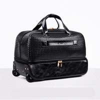 LeTrend Black Rolling Luggage Spinner Men large capacity Travel Bag Suitcases Wheel 20 inch Carry On Women's Handbags