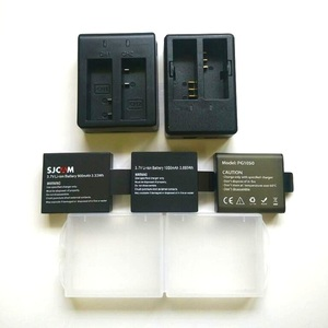 Image 1 - SJCAM cargador Original de batería EKEN Soocoo, batería de 1050/1350mAh para sj4000 Sj5000 M10 c30 H9 H5S THIEYE T5E 7, accesorios para cámara