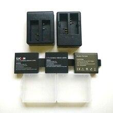 Sjcam eken soocooオリジナルバッテリー充電器1050/1350バッテリーsj4000 Sj5000 M10 c30 H9 H5S thieye T5E 7カメラアクセサリー