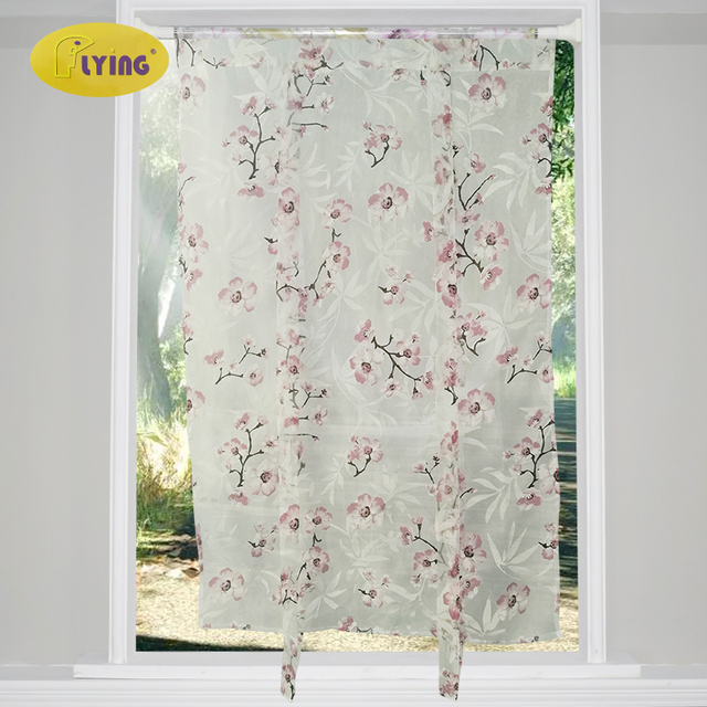 Aliexpress com : Buy Flying Europe Flower White Yarn Curtain Window Tulle  Curtains For Living Room Kitchen Modern Window Treatments Voile Curtain  from