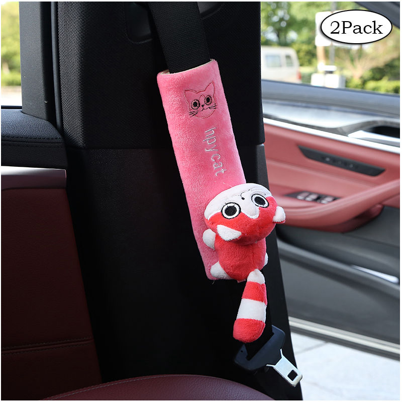 2 Pack Car Seat Belt Pads Universal Car Seat Shoulder Strap Pad Cushion Cover Car Belt Protector Safety Belt Cover  YC007-in Seat Belts & Padding from Automobiles & Motorcycles