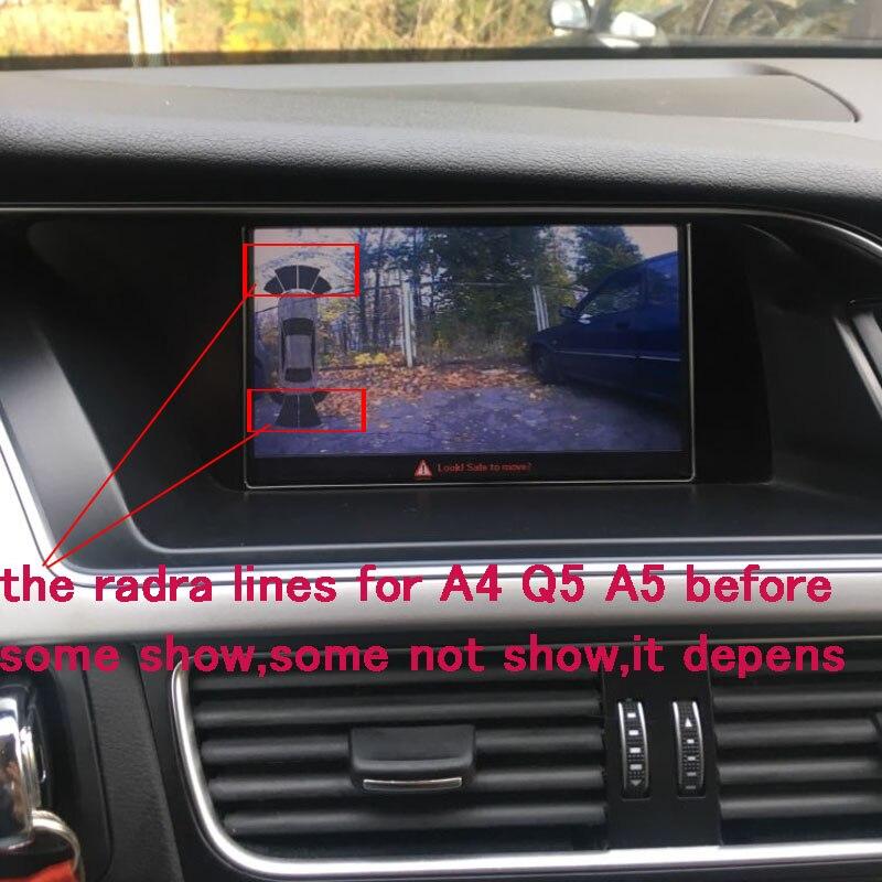 Interface de caméra inversée intelligente pour Audi MMI 3G/3G + A1 Q3 A4 A5 Q5 A6 A7 Q7 A8 avec ligne de stationnement dynamique intelligente - 2
