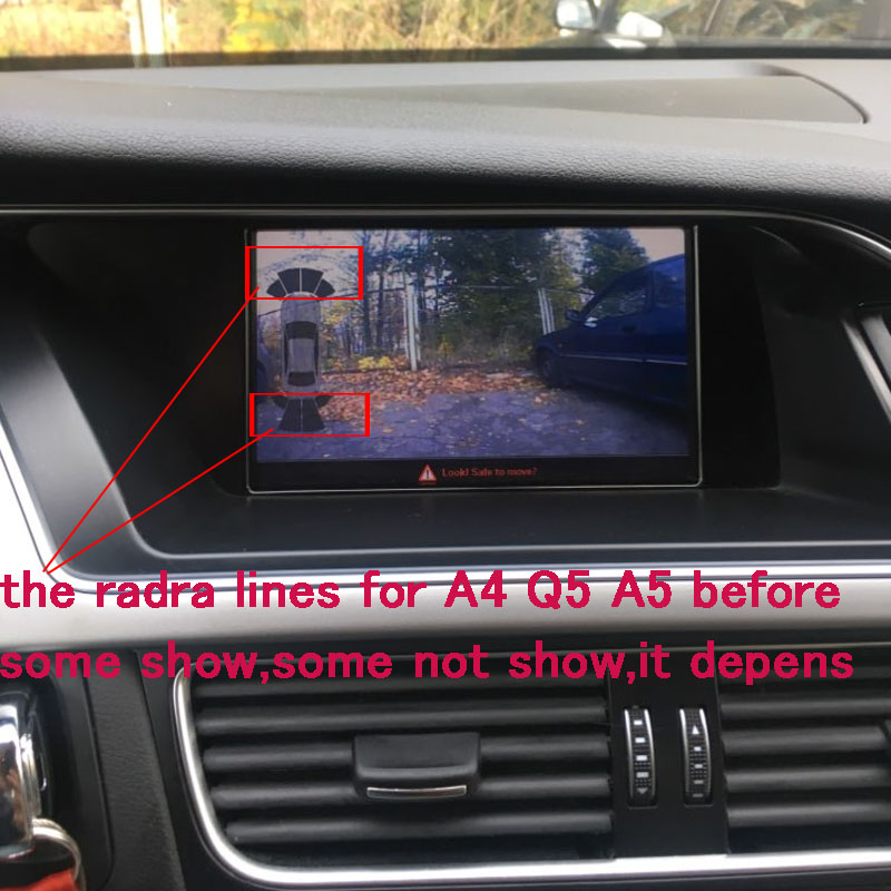 Smart Reverse Camera Interface For Audi MMI 3G/3G+ A1 Q3 A4 A5 Q5 A6 A7 Q7 A8 With Intelligent Dynamic Trajectory Parking Line
