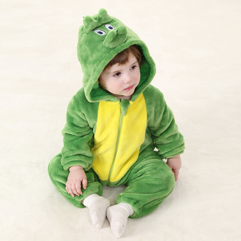 Flannel Baby Clothes Cartoon Animal Toddler Jumpsuit Autumn Spring Hooded Newborn Baby Rompers autumn baby clothes flannel baby boys clothes newborn fleece animal girls jumpsuit hooded toddler cute bear romper baby costumes
