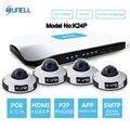 Sunell k24p modelo 2-megapixel (1920x1080) 4Ch POE Rede de Vídeo IP (Kit NVR)-2MP POE Mini Dome Câmeras IP, IR 6 M de Visão Noturna