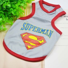 2016 New Summer Fashion Pet Cats Clothing Vest Batman Superman sleeveless Clothing For Small Cat Vest Clothes Chihuahua Apparel
