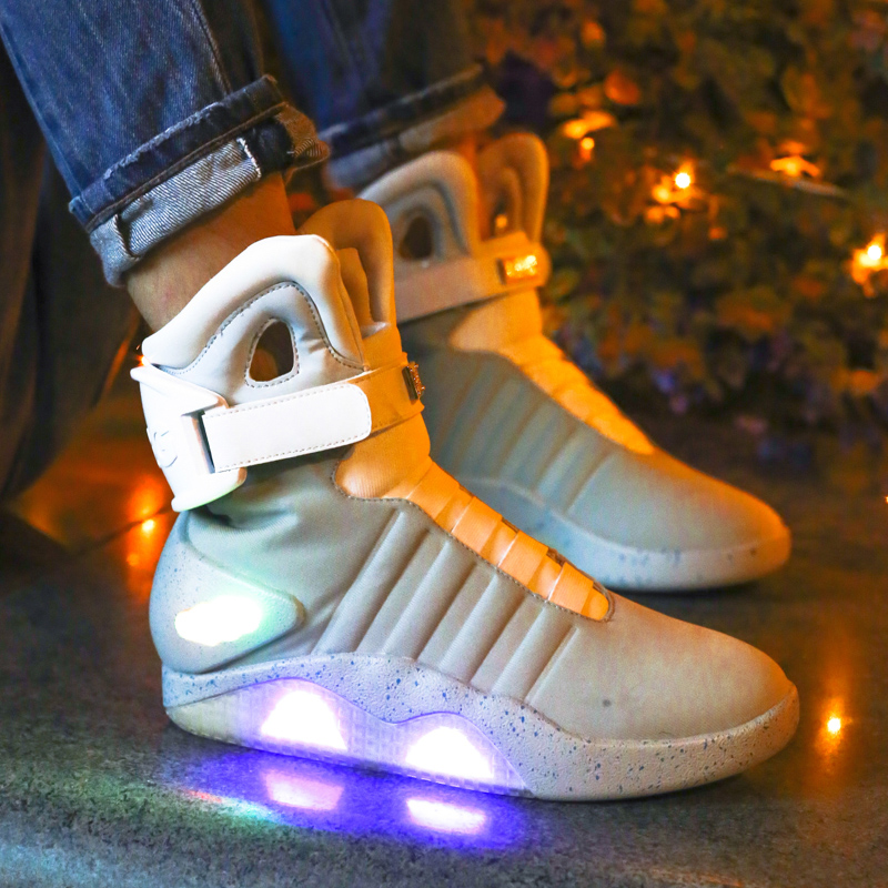 STRONGSHEN 2018 New 39-45 Size/USB Charging Basket Led Children Shoes With Light UP Big Casual Boys&Girls Sneakers Glowing Shoe