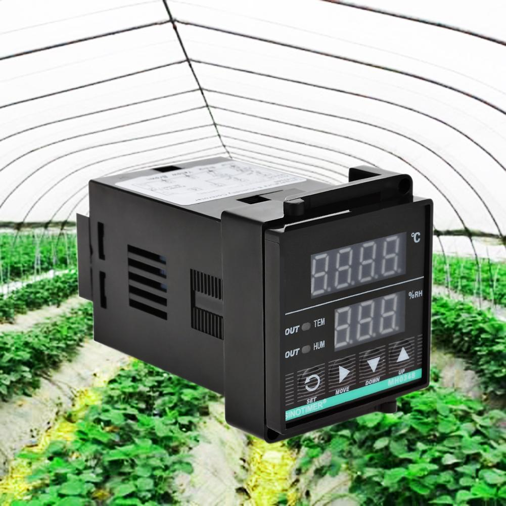 48*48mm Intelligent Temperature Humidity Controller Instrument For Baking Room Warehouse Hatching Greenhouse Breeding J3 вытяжка каминная gorenje dk63cli бежевый