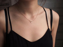 small hollow triangle pendant necklace Geometric hexagon simple polygon geometry V shape Mathematics