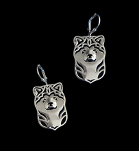 wholesale Handmade Cartoon Japan's akita dog Earring jewelry Silver/gold color plated akita  Earring 12pair/lot akita 3034 7 page 2