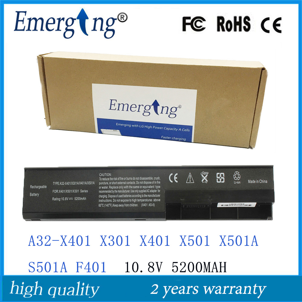 Japonais nouvelles cellules 47wh batterie d'ordinateur portable pour asus x301 x401 X501 X301A X401A X501A A31-X401 F301 F301A F301A1 F401 F501 A32