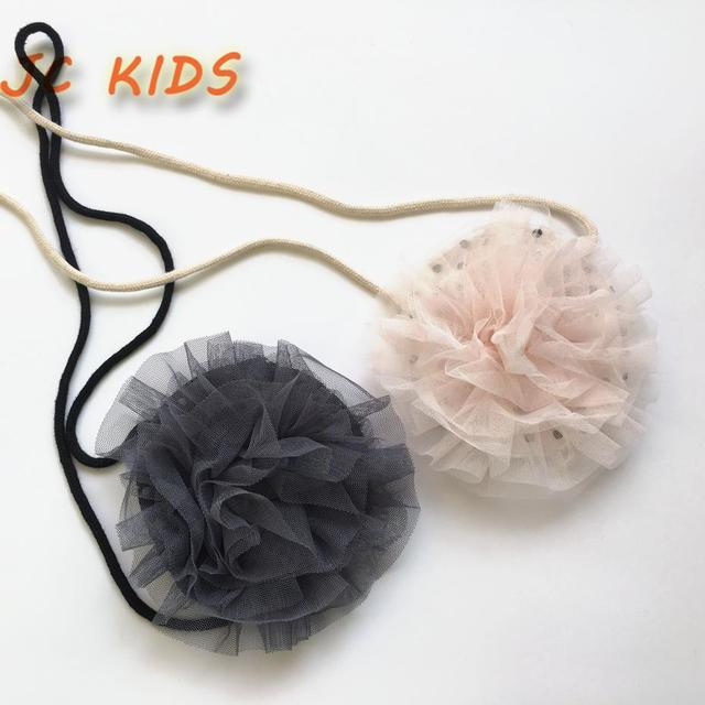 JC KIDS Baby Girls Lace Flowers Messenger Bag Korea Style Kids Sweet Lace Bag Children Small Coin Purse Diameter Around 13.5cm