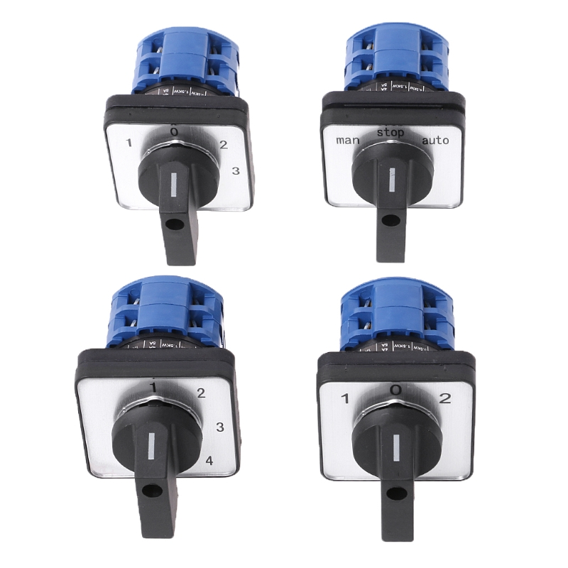 Electric 2/3/4 position 8 Terminals Rotary Cam Changeover Switch 660V 20A ztElectric 2/3/4 position 8 Terminals Rotary Cam Changeover Switch 660V 20A zt