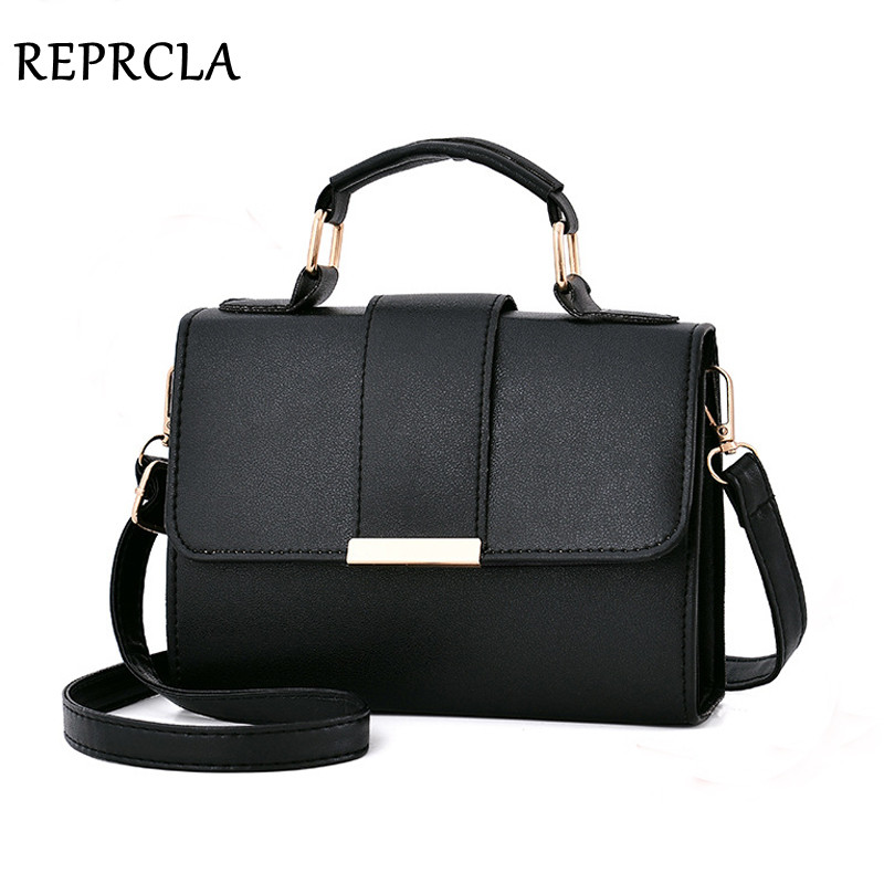 2111052393 REPRCLA 2018 Summer Fashion Women Bag Leather Handbags PU Shoulder Bag Small  Flap Crossbody Bags for