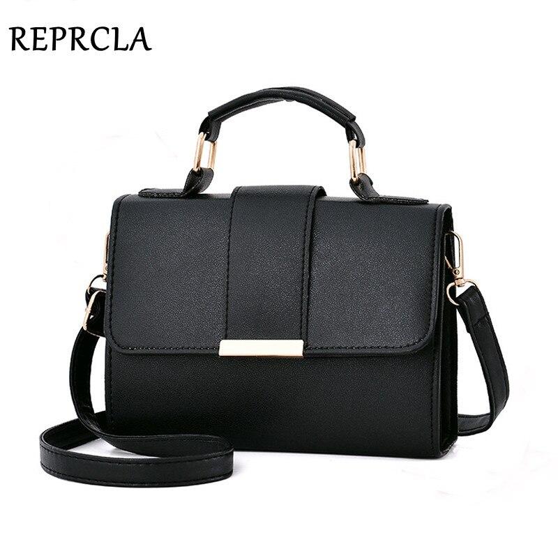 REPRCLA 2018 Sommer Mode Frauen Tasche Leder Handtaschen PU Schulter Tasche Kleine Klappe Umhängetaschen für Frauen Messenger Taschen