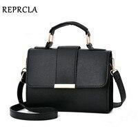 REPRCLA 2019 летняя модная женская сумка кожаные сумки PU сумка на плечо маленькая Лоскутная сумка через плечо для женщин сумки-мессенджеры
