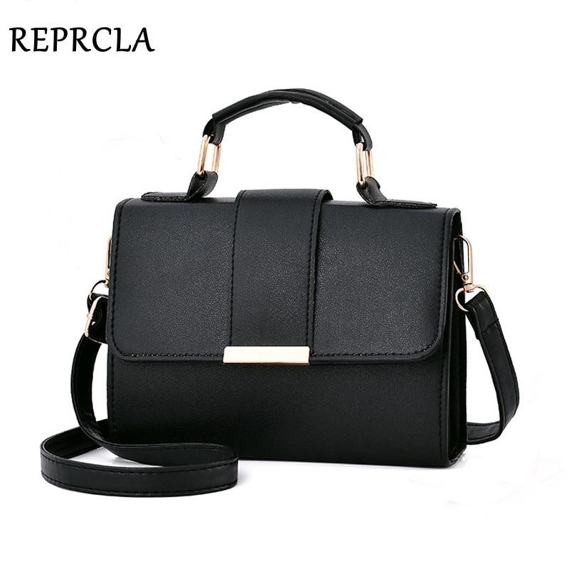 REPRCLA 2019 Summer Fashion Women Bag Leather Handbags PU Shoulder Bag Small Flap Crossbody Bags for Women Messenger Bags