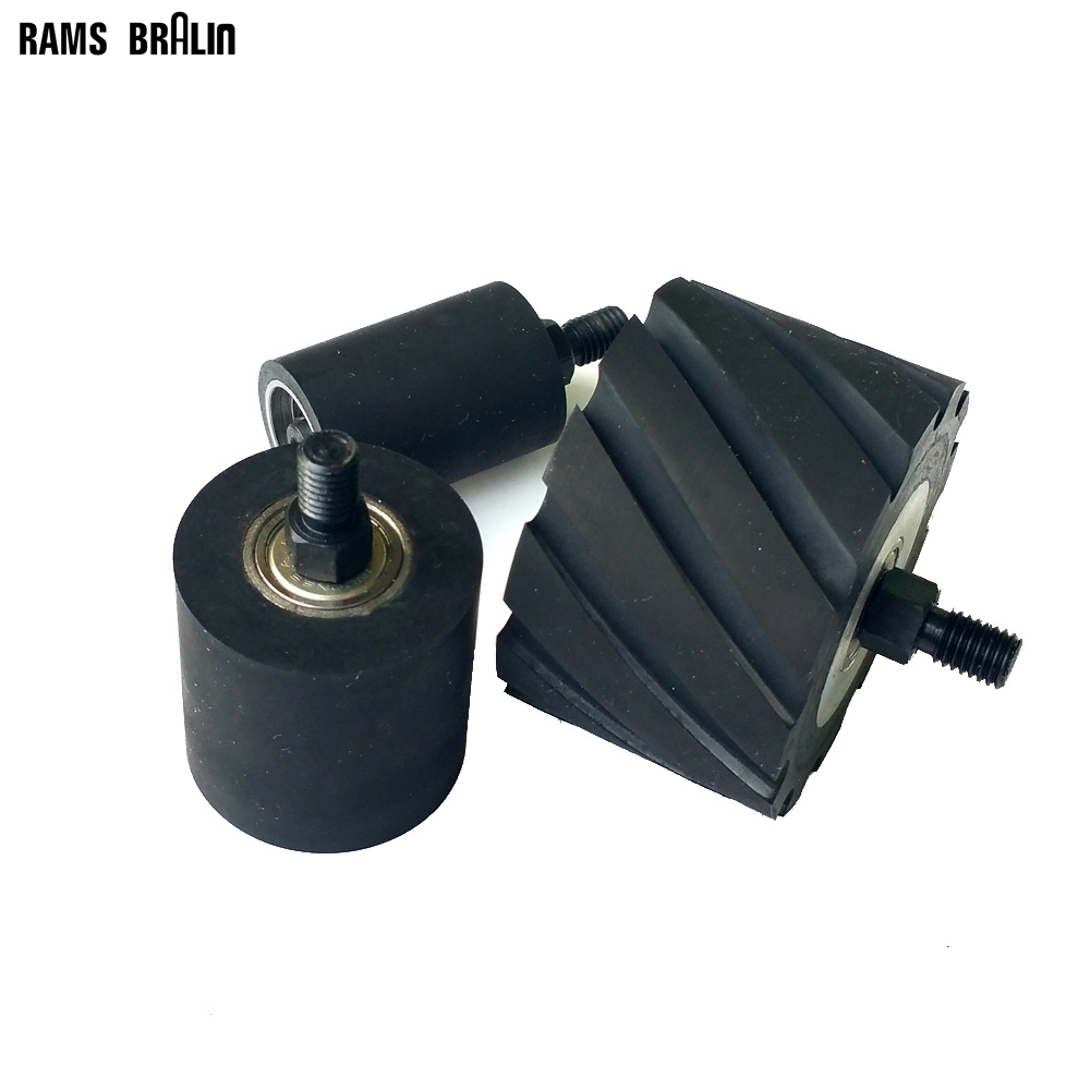 1 piece OD 35-80 Optional Rubber Roller with Shaft M10* 12mm Grinding Machine Contact Wheel with Bearings 1 piece 2 2 1 2 1 2 3 1 2 rubber roller grinder contact wheel with shaft
