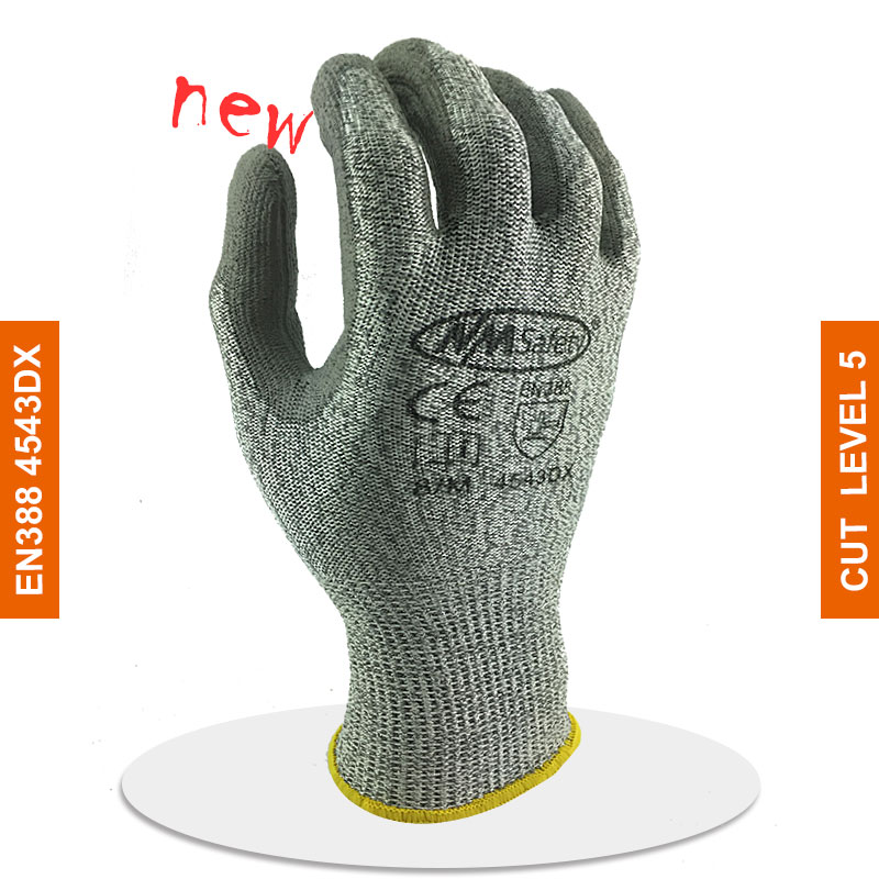 2019 Cheapest 120 Pairs UHMWPE Anti cut gloves Cut resistance gloves with PU on palm Cut