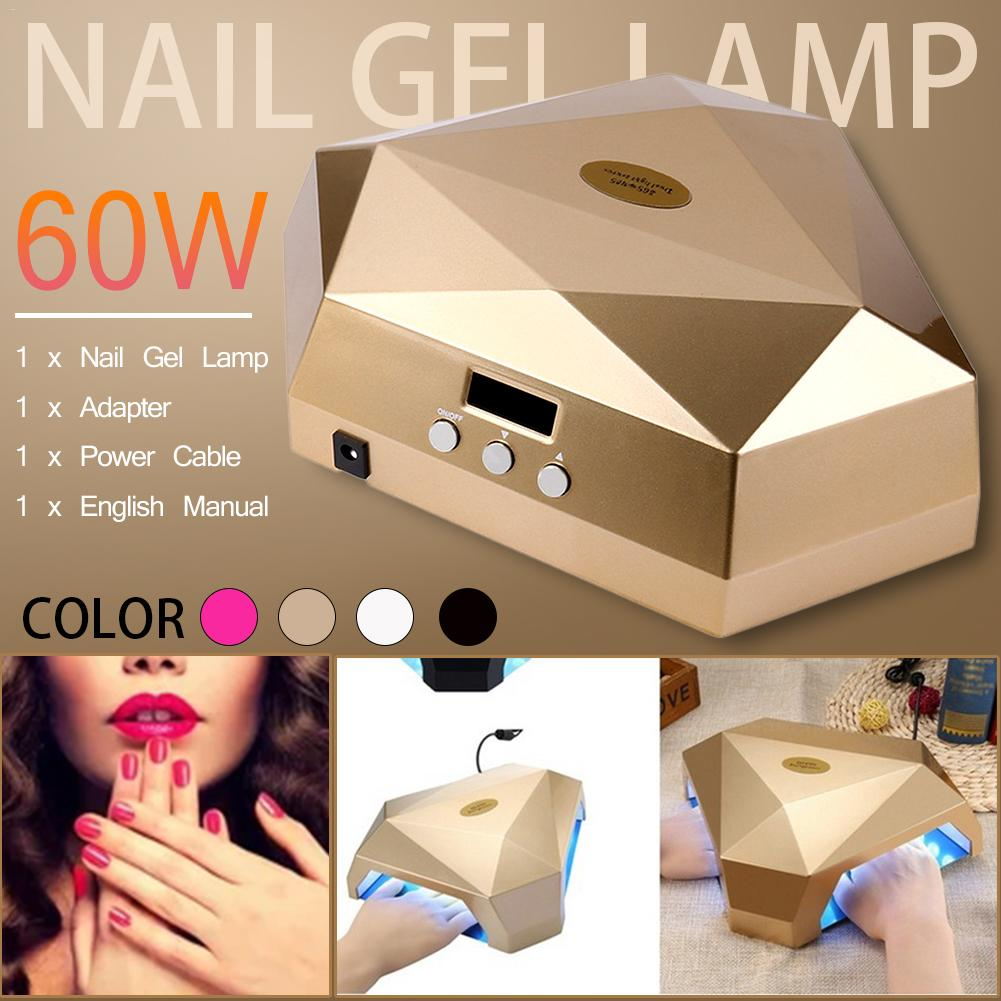 60 Вт Светодиодная УФ лампа для ногтей для УФ гель лака для отверждения Профессиональный Сушилка для ногтей ЖК дисплей сушка все Гель лак для... - 5
