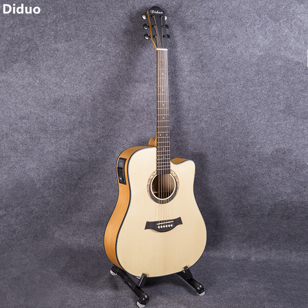 Diduo 41 Inch High Quality Acoustic Guitar Rosewood Fingerboard Picea Asperata Guitarra Folk Guitar With 5 Segment Pickup diduo 40 inch 41 acoustic guitar beginner entry student male and female instrument wound guitarra