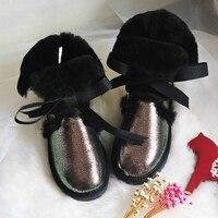 2017 Australia Wholesale/retail High quality Women's Classic Snow Boots real Sheepskin medium style winter boots womens