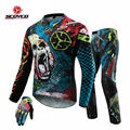 Motorcycle Clothes Suit Jacket Pants Gloves Set Hip Pads Offroad Sports Cycling Racing Professional Motocross Dirt Bike Riding