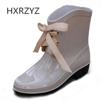 Hot 2015 Age Season Warm Fashion Boots Free Shipping Ladies Bow With Waterproof Non Slip Rubber