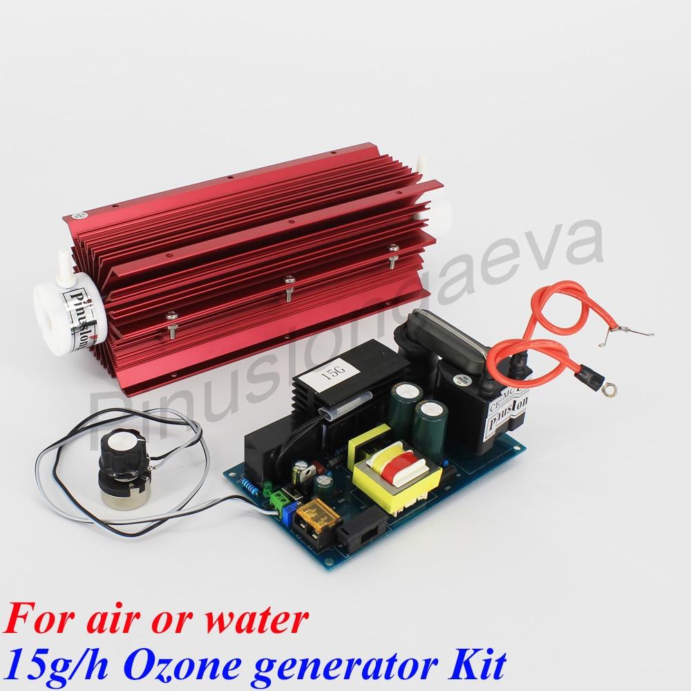 Pinuslongaeva 15 g/h 15 grammes réglable Quartz tube type générateur d'ozone Kit professionnel ozone air purificateur d'eau stérilisateur