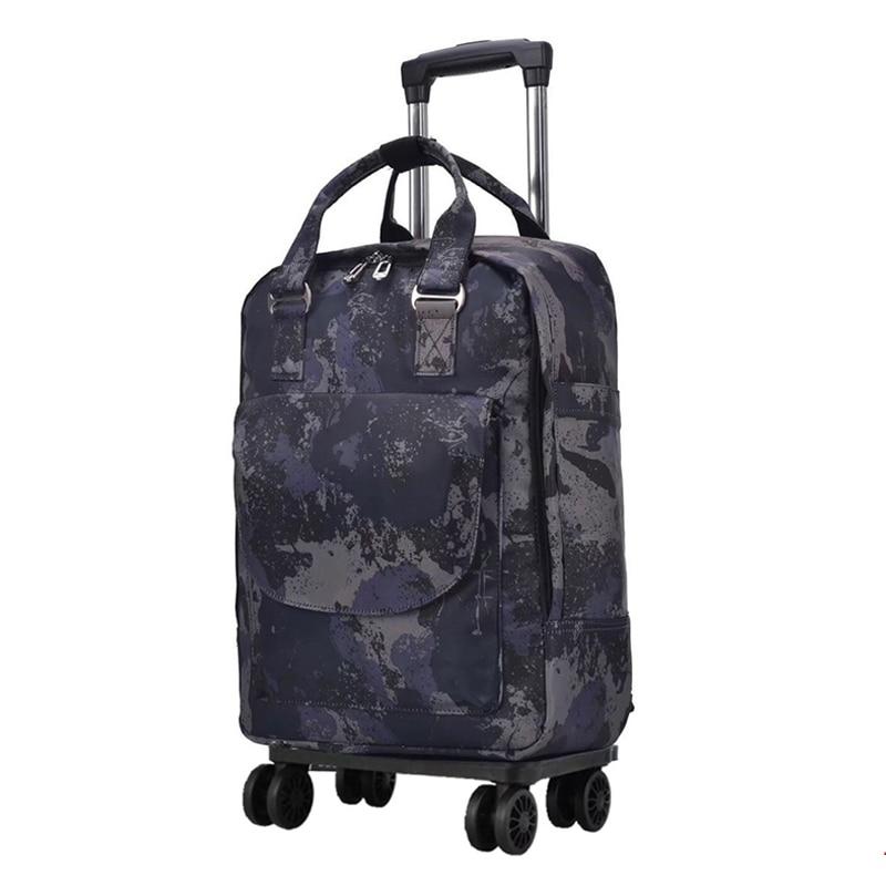 Femmes sac De Voyage Chariot Sac/étui de voyage Sac À Dos avec Roulement de roue De chariot à bagages valise portable imperméable à l'eau Oxford sac à main