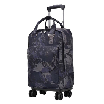 Women Travel bag Trolley Bag/case travel Backpack with wheel Rolling luggage trolley Portable Suitcase waterproof Oxford handbag