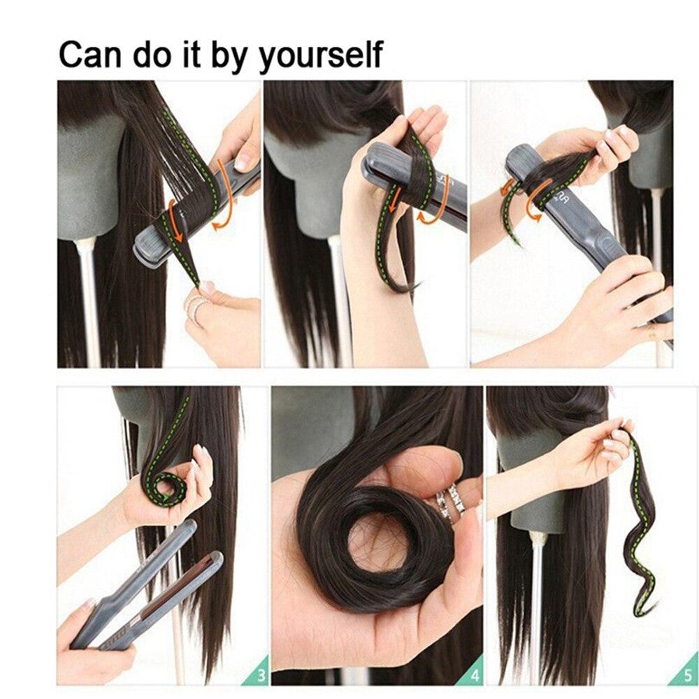 Xi.rocks 50g 20inch Halo Elastic Reb Hair Extension Syntetisk runt - Syntetiskt hår - Foto 5