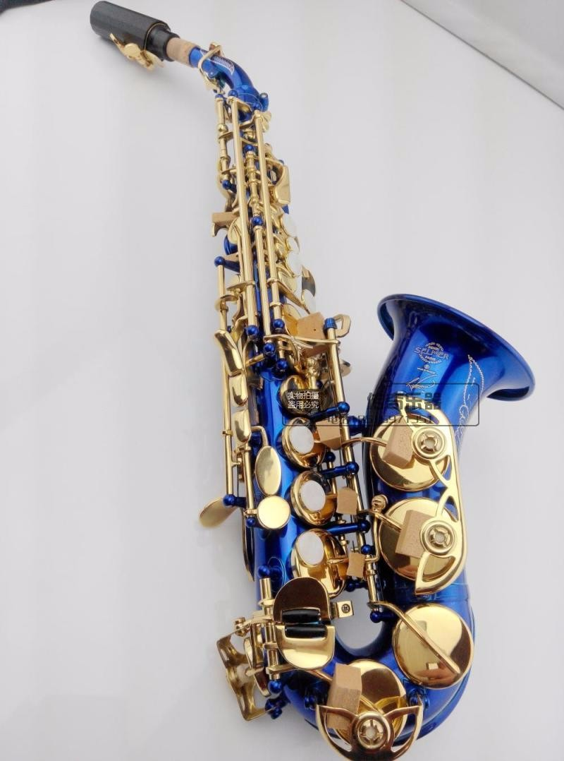 Soprano Sax French Selmer pitch BB Soprano Saxophone bell curve curved flat B created musical instrument Saxophone Sax soprano saxophone bb wind instrument sax western instruments black saxofone saxofon soprano musical instruments black saxofon