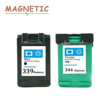 2 шт. Магнитный картридж для hp 339 hp 344 для hp Photosmart 2575 2610 8050 8150 Deskjet 460 5940 6520 6620 принтер для hp 339