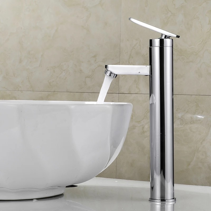 Free Shipping Swan Faucets Cold And Hot Water Basin Single Hole Heightening Bathroom Faucet