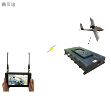 Delay rendah HD Video Link Drones UAV COFDM Pemancar Nirkabel Video Audio Transmitter dan Receiver HDMI/SDI input Ringan
